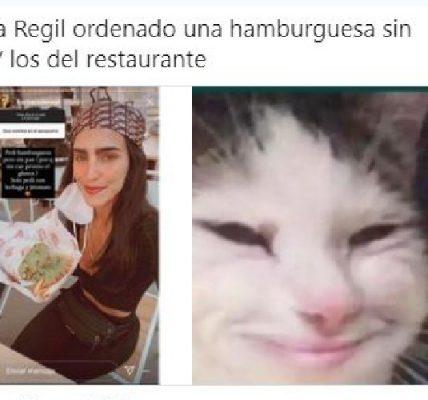 Los memes sobre la hamburguesa sin pan de Bárbara del Regil