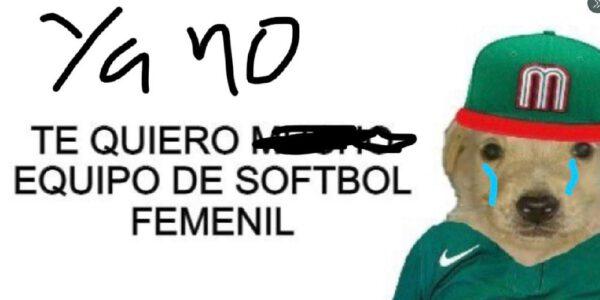 Memes de la selección de softbol que tiró su uniforme