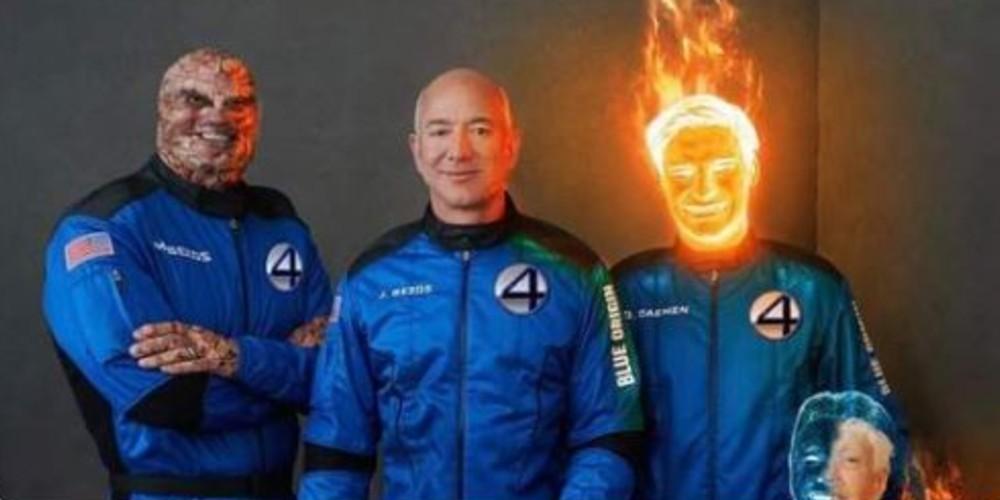 Los memes del viaje de Jeff Bezos al espacio